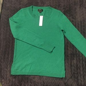 J.Crew Kelly Green Cashmere Sweater